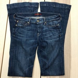 7 for all Mankind dark wash flare jeans size 26